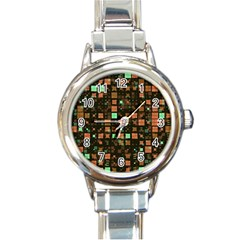 Small Geo Fun A Round Italian Charm Watch by MoreColorsinLife
