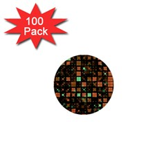 Small Geo Fun A 1  Mini Buttons (100 Pack)  by MoreColorsinLife