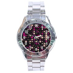 Small Geo Fun D Stainless Steel Analogue Watch by MoreColorsinLife