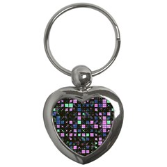 Small Geo Fun B Key Chains (heart)  by MoreColorsinLife