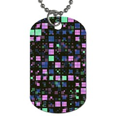 Small Geo Fun B Dog Tag (two Sides) by MoreColorsinLife