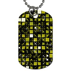 Small Geo Fun F Dog Tag (two Sides) by MoreColorsinLife