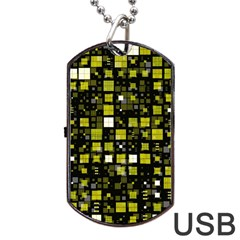 Small Geo Fun F Dog Tag Usb Flash (one Side) by MoreColorsinLife