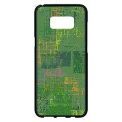 Abstract Art Samsung Galaxy S8 Plus Black Seamless Case by ValentinaDesign