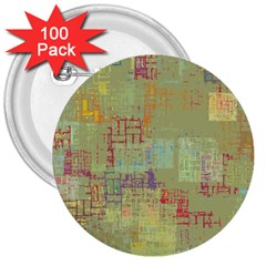 Abstract Art 3  Buttons (100 Pack)  by ValentinaDesign