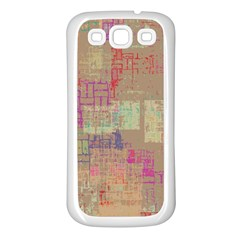 Abstract Art Samsung Galaxy S3 Back Case (white) by ValentinaDesign