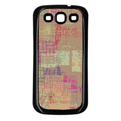 Abstract Art Samsung Galaxy S3 Back Case (black) by ValentinaDesign