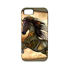 Steampunk, Wonderful Steampunk Horse With Clocks And Gears, Golden Design Apple Iphone 5 Classic Hardshell Case (pc+silicone)
