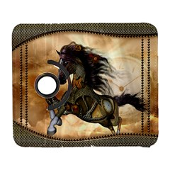 Steampunk, Wonderful Steampunk Horse With Clocks And Gears, Golden Design Galaxy S3 (flip/folio) by FantasyWorld7