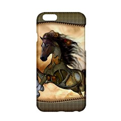 Steampunk, Wonderful Steampunk Horse With Clocks And Gears, Golden Design Apple Iphone 6/6s Hardshell Case by FantasyWorld7