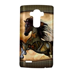 Steampunk, Wonderful Steampunk Horse With Clocks And Gears, Golden Design Lg G4 Hardshell Case by FantasyWorld7