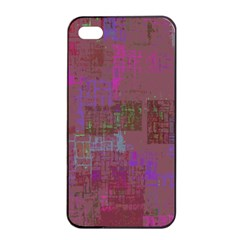 Abstract Art Apple Iphone 4/4s Seamless Case (black) by ValentinaDesign