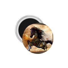 Steampunk, Wonderful Steampunk Horse With Clocks And Gears, Golden Design 1 75  Magnets by FantasyWorld7