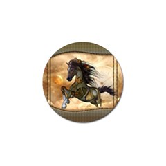 Steampunk, Wonderful Steampunk Horse With Clocks And Gears, Golden Design Golf Ball Marker (10 Pack) by FantasyWorld7