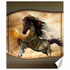 Steampunk, Wonderful Steampunk Horse With Clocks And Gears, Golden Design Canvas 20  X 24   by FantasyWorld7