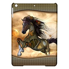 Steampunk, Wonderful Steampunk Horse With Clocks And Gears, Golden Design Ipad Air Hardshell Cases by FantasyWorld7