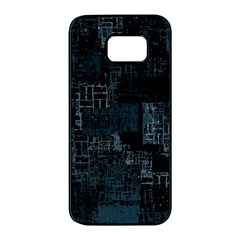 Abstract Art Samsung Galaxy S7 Edge Black Seamless Case by ValentinaDesign