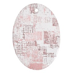 Abstract Art Oval Ornament (two Sides) by ValentinaDesign