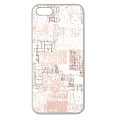 Abstract Art Apple Seamless Iphone 5 Case (clear) by ValentinaDesign