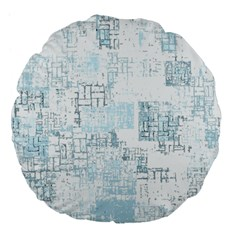 Abstract Art Large 18  Premium Flano Round Cushions by ValentinaDesign