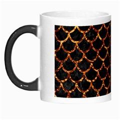 Scales1 Black Marble & Copper Foil Morph Mugs by trendistuff