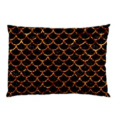 Scales1 Black Marble & Copper Foil Pillow Case by trendistuff