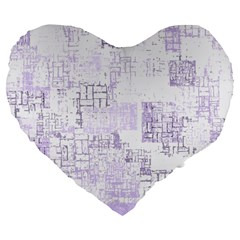 Abstract Art Large 19  Premium Flano Heart Shape Cushions by ValentinaDesign
