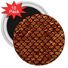 Scales1 Black Marble & Copper Foil (r) 3  Magnets (10 Pack)  by trendistuff