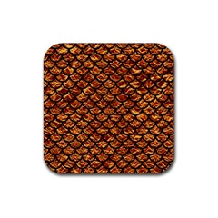 Scales1 Black Marble & Copper Foil (r) Rubber Square Coaster (4 Pack)  by trendistuff