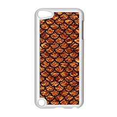 Scales1 Black Marble & Copper Foil (r) Apple Ipod Touch 5 Case (white)