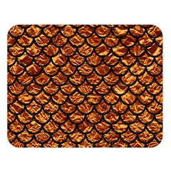 Scales1 Black Marble & Copper Foil (r) Double Sided Flano Blanket (large)  by trendistuff
