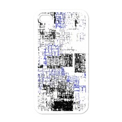 Abstract Art Apple Iphone 4 Case (white) by ValentinaDesign
