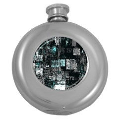 Abstract Art Round Hip Flask (5 Oz) by ValentinaDesign