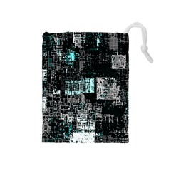 Abstract Art Drawstring Pouches (medium)  by ValentinaDesign