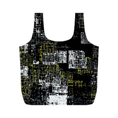 Abstract Art Full Print Recycle Bags (m)  by ValentinaDesign