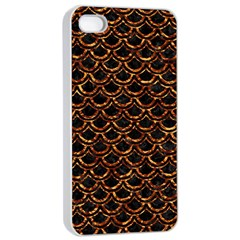 Scales2 Black Marble & Copper Foilscales2 Black Marble & Copper Foil Apple Iphone 4/4s Seamless Case (white) by trendistuff