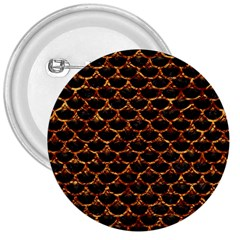 Scales3 Black Marble & Copper Foil 3  Buttons by trendistuff