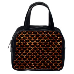 Scales3 Black Marble & Copper Foil Classic Handbags (one Side) by trendistuff