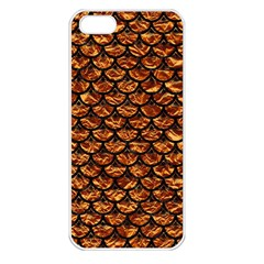 Scales3 Black Marble & Copper Foil (r) Apple Iphone 5 Seamless Case (white) by trendistuff