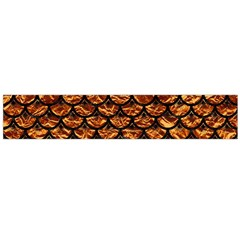 Scales3 Black Marble & Copper Foil (r) Flano Scarf (large)