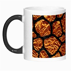 Skin1 Black Marble & Copper Foil Morph Mugs by trendistuff