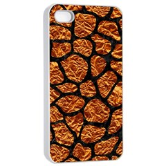 Skin1 Black Marble & Copper Foil Apple Iphone 4/4s Seamless Case (white) by trendistuff