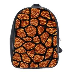 Skin1 Black Marble & Copper Foil School Bag (xl) by trendistuff