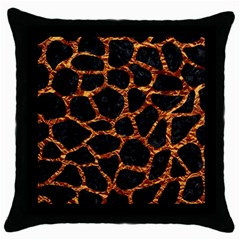 Skin1 Black Marble & Copper Foil (r) Throw Pillow Case (black) by trendistuff