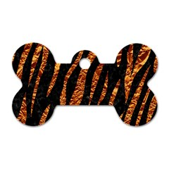 Skin3 Black Marble & Copper Foil Dog Tag Bone (two Sides)