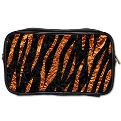 Skin3 Black Marble & Copper Foil Toiletries Bags 2 Side by trendistuff