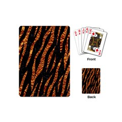 Skin3 Black Marble & Copper Foil Playing Cards (mini)  by trendistuff