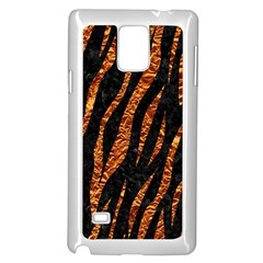 Skin3 Black Marble & Copper Foil Samsung Galaxy Note 4 Case (white) by trendistuff