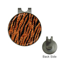 Skin3 Black Marble & Copper Foil (r) Hat Clips With Golf Markers by trendistuff