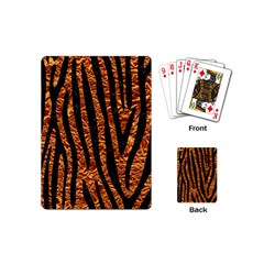 Skin4 Black Marble & Copper Foil Playing Cards (mini)  by trendistuff